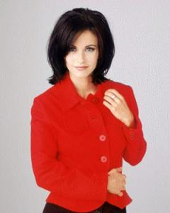 Monica Geller (played by Courteney Cox) from Friends.