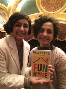 "My sister and I at ""Fun Home"" the musical in Minneapolis on Sunday, December 18, 2016."